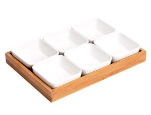 Platos de cerámica para aperitivos y salsas