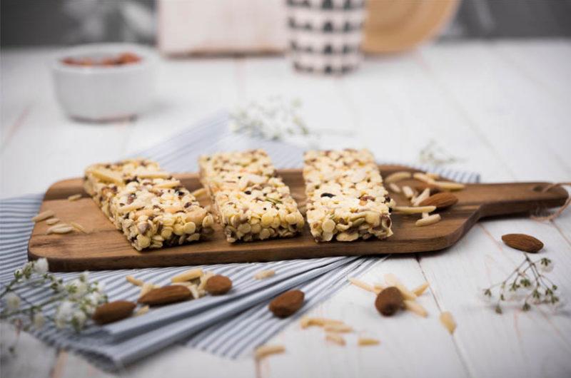 Receta de barritas energéticas caseras de cereales y frutos secos