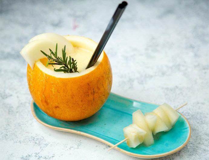 Receta de sopa fría de melón con jamón