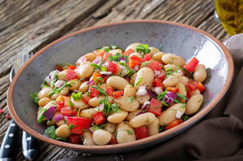 Receta de ensalada fresca de legumbres maceradas
