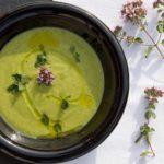 Sopa fría de aguacate y pepino