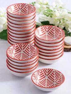 recipientes para aperitivos de porcelana