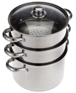 Olla para cocinar al vapor de acero inoxidable
