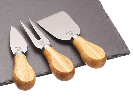 Tabla y cuchillos para quesos artesanales Artresa
