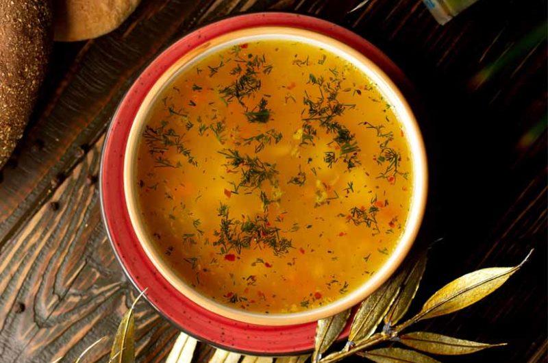 Receta de sopa de verduras a las hierbas