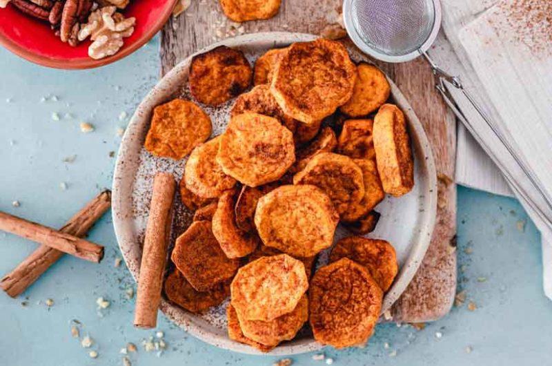 Receta de boniato al horno con pistachos y chocolate