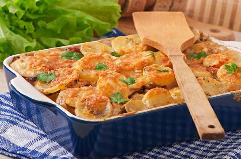 Receta de gratín de patata y calabacín
