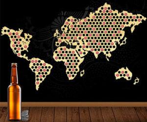 mapa de madera de chapas de cerveza amazon