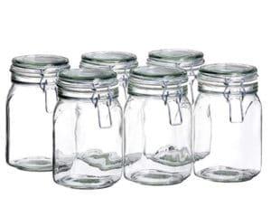 tarros de cristal herméticos para conservas